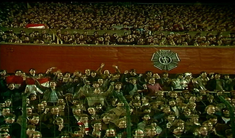 Kibice podczas meczu Widzew Łódź – Borussia Mönchengladbach 1:0 (07.11.1984)