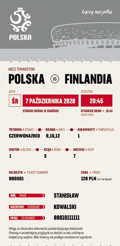 bilet na mecz polska – finlandia (07.10.2020)