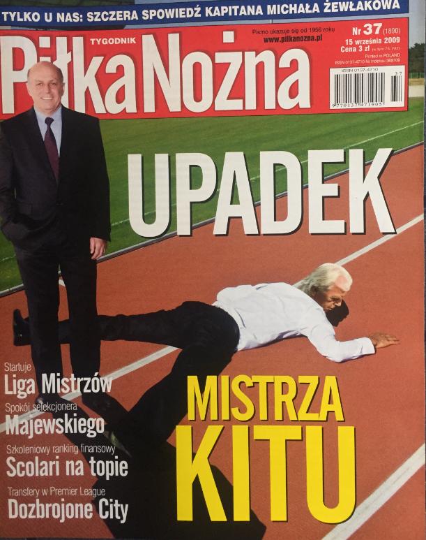 okładka piłki nożnej po meczu słowenia - Polska (09.09.2009)
