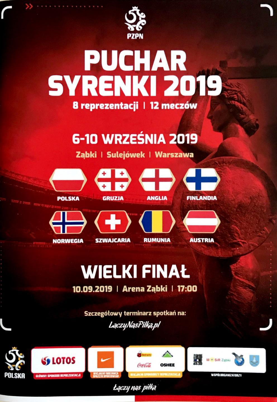 Program meczowy Puchar Syrenki 2019.