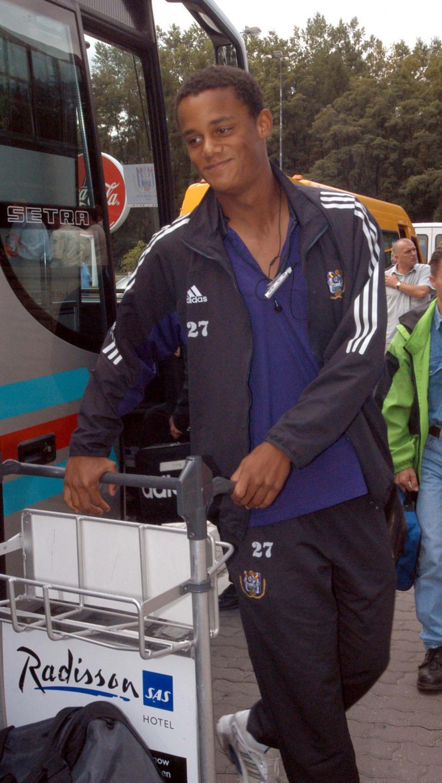 Vincent Kompany z Anderlechtu po przylocie do Krakowa na mecz z Wisłą.