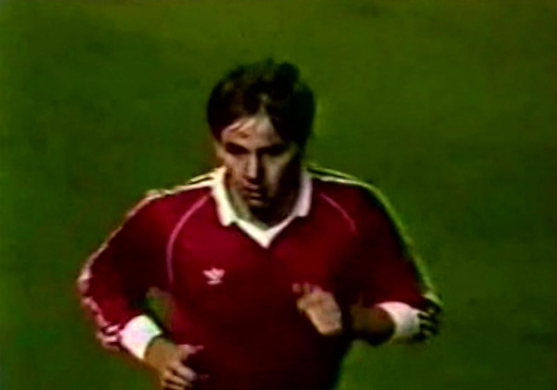 Wiesław Wraga podczas meczu Borussia Mönchengladbach – Widzew Łódź 3:2 (24.10.1984)