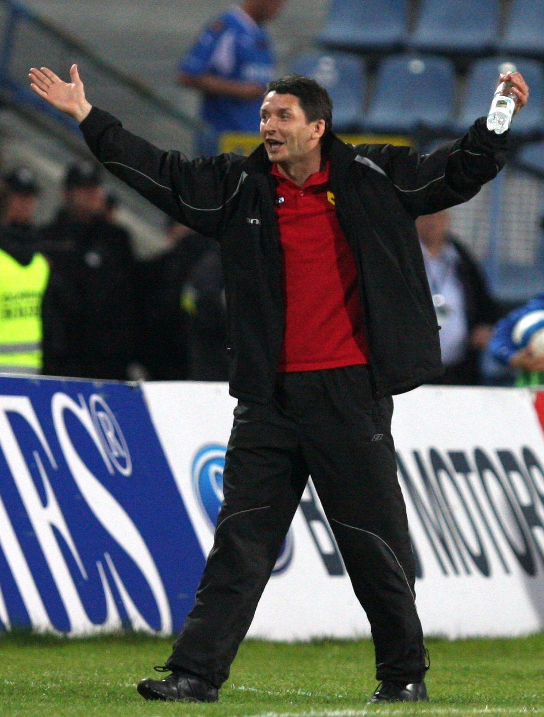 Dariusz Czykier jako trener Jagiellonii Białystok w 2008 roku.