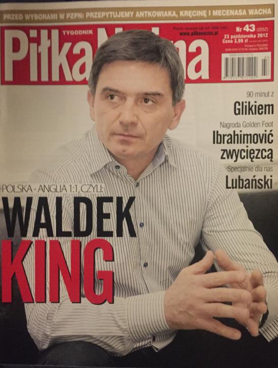 okładka piłki nożnej po meczu polska – anglia (17.10.2012)