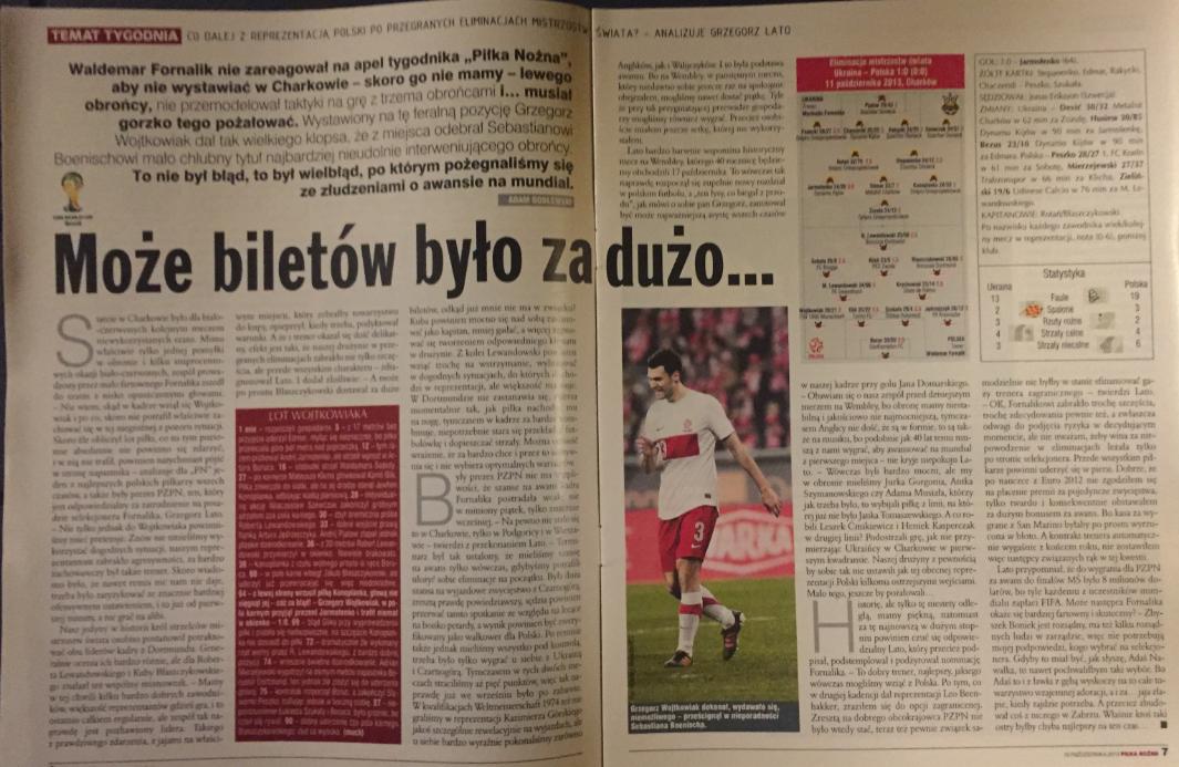 piłka nożna po meczu ukraina – polska (13.10.2013)