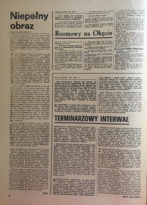 piłka nożna po meczu szwajcaria - polska (27.03.1984)