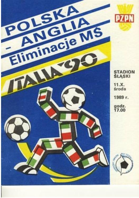 program z meczu polska – anglia (11.10.1989)