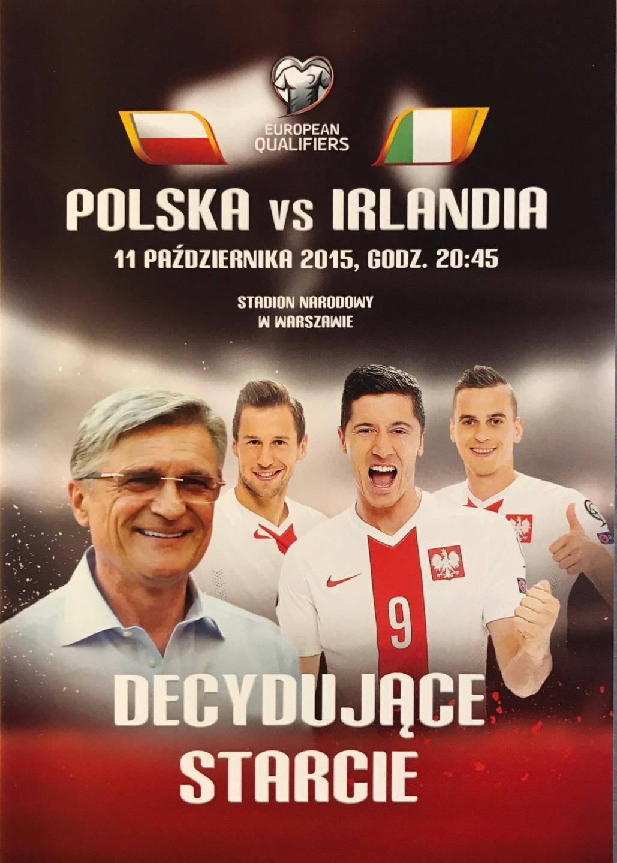 Program meczowy Polska – Irlandia 2:1 (11.10.2015).