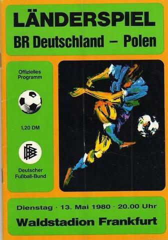 program z meczu rfn - polska (13.05.1980)