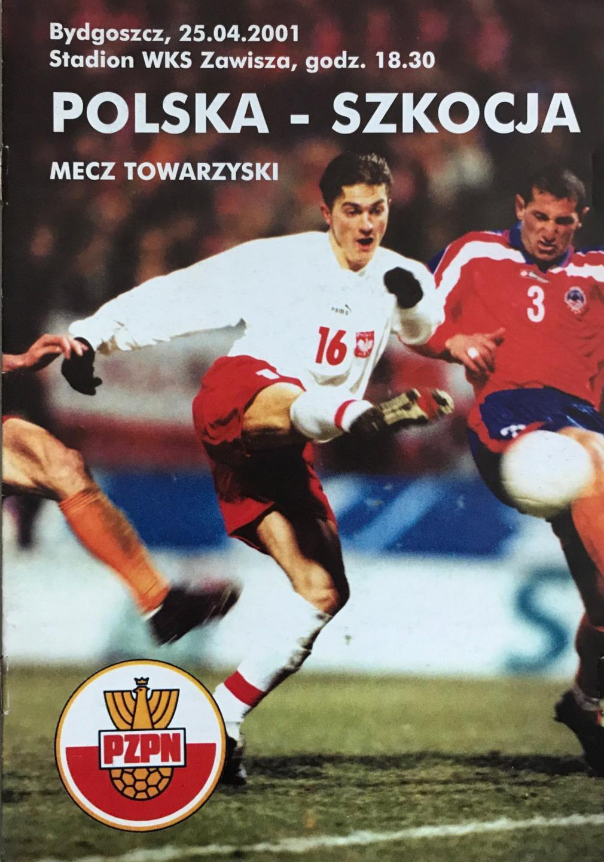 Program meczowy Polska - Szkocja 1:1 (25.04.2001).