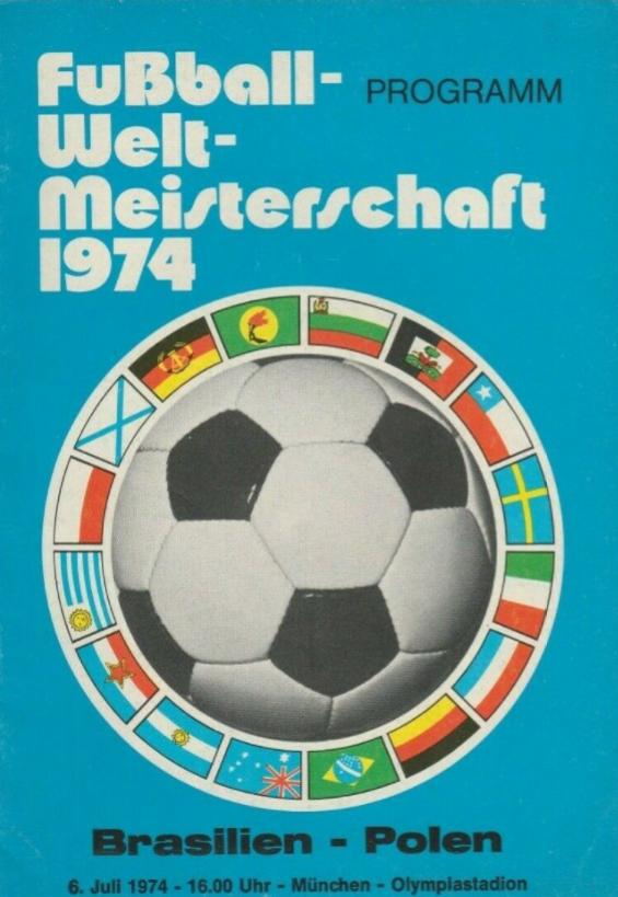 program z meczu polska - brazylia (06.07.1974)