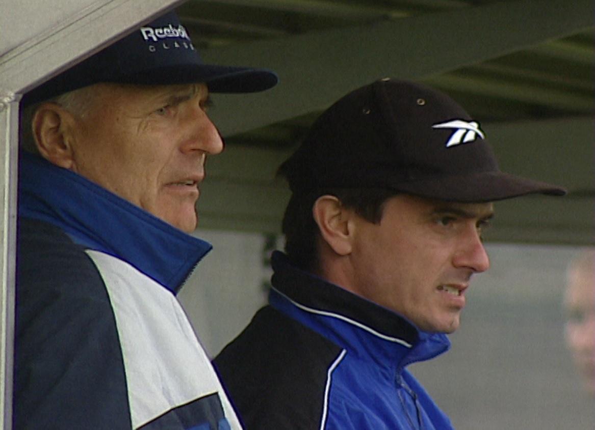 Ruch Chorzów – Bologna 0:2 (25.08.1998) Orest Lenczyk i Waldemar Fornalik