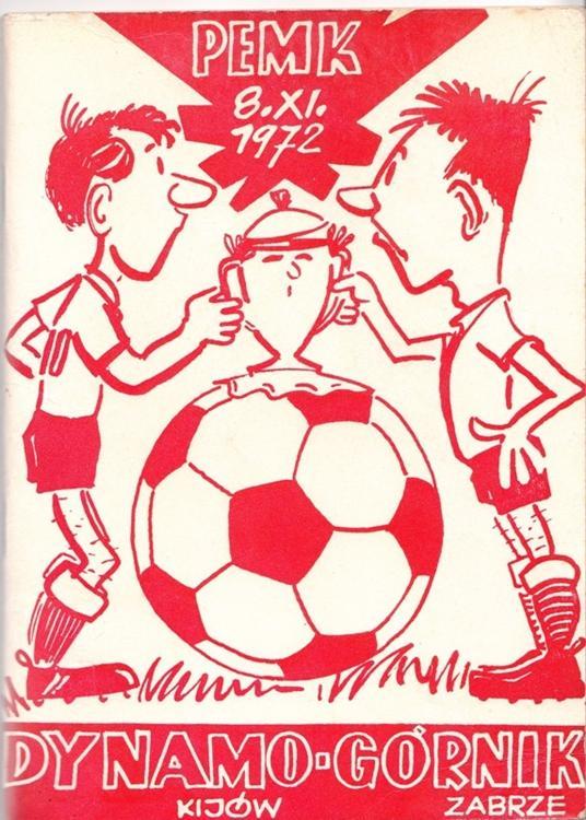 Program meczowy Górnik Zabrze - Dynamo Kijów 2:1 (08.11.1972)