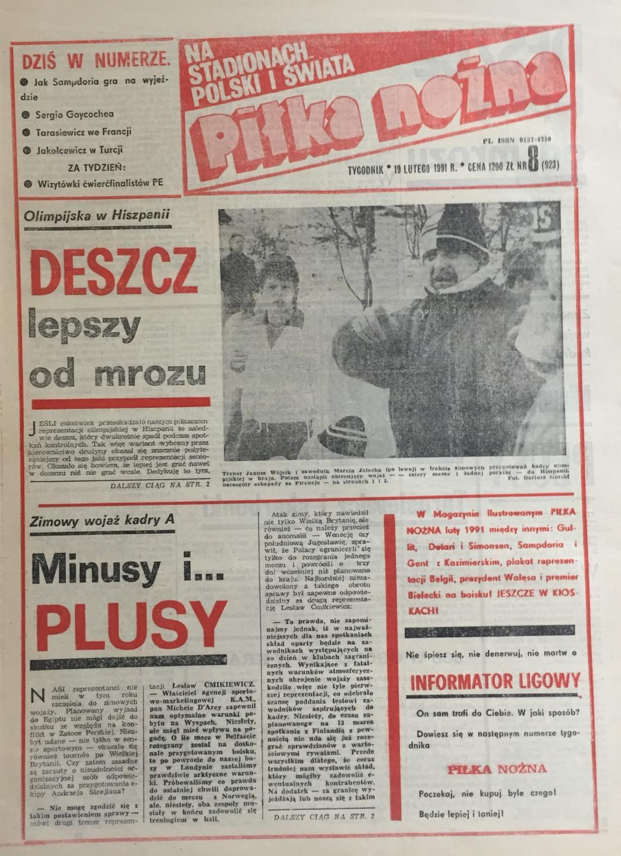 Piłka Nożna po Hiszpania - Polska 1:1 (13.02.1991) 1