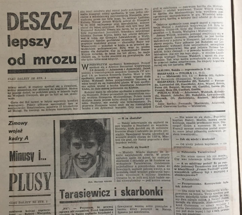 Piłka Nożna po Hiszpania - Polska 1:1 (13.02.1991) 2