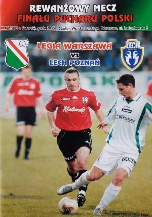 Program meczowy Legia Warszawa - Lech Poznań 1:0 (01.06.2004).