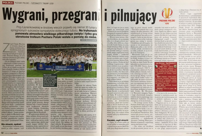 Legia Warszawa - Śląsk Wrocław 0:1 (08.05.2013)