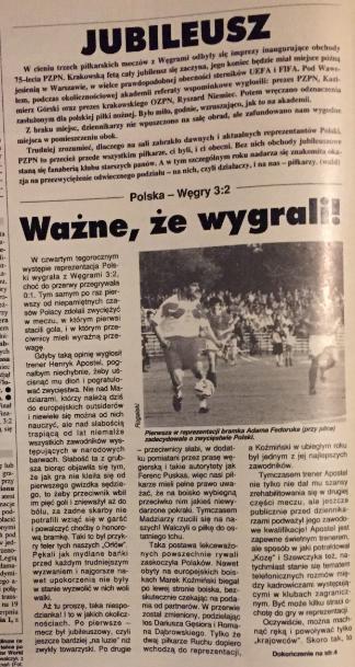 piłka nożna po meczu polska - węgry (04.05.1994)