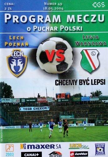 Program meczowy Lech Poznań - Legia Warszawa 2:0 (18.05.2004)