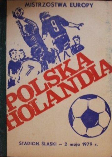 Program meczowy Polska - Holandia 2:0 (02.05.1979)