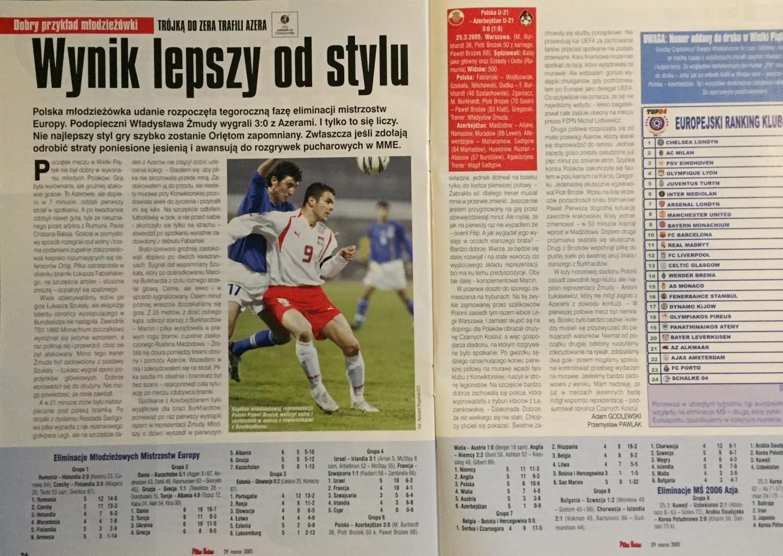 Piłka Nożna po Polska - Azerbejdżan 3:0 (25.03.2005)