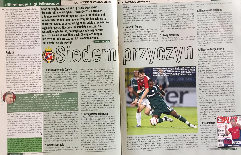 Piłka Nożna po Panathinaikos Ateny - Wisła Kraków 4:1 (23.08.2005) 3