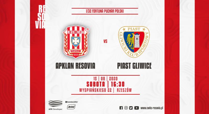 Resovia Rzeszów - Piast Gliwice 0:4 (15.08.2020)