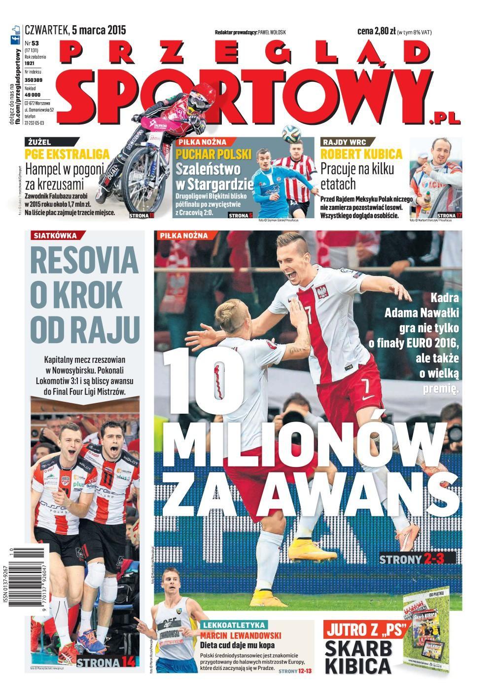 Błękitni Stargard Szczeciński - Cracovia 2:0 (04.03.2015) Przegląd Sportowy