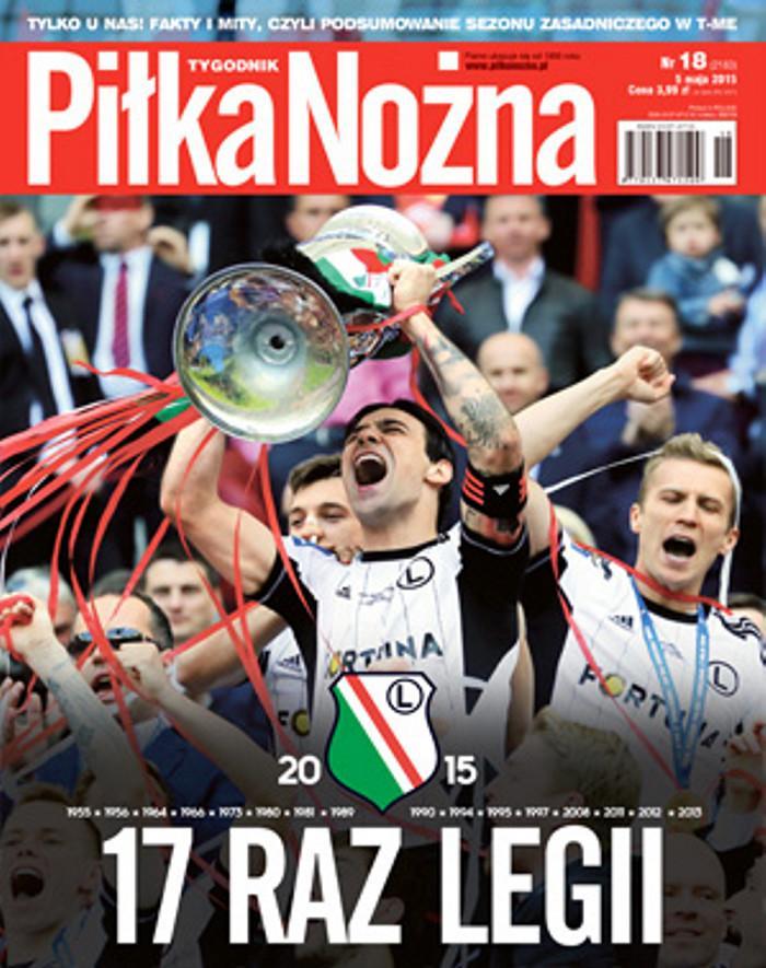 Okładka Piłka Nożna po meczu Lech Poznań - Legia Warszawa 1:2 (02.05.2015).