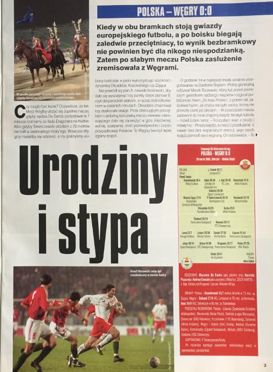 piłka nozna po meczu polska - węgry (29.03.2003)