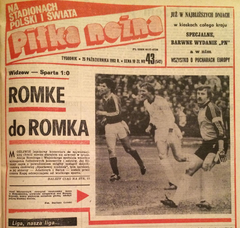 Widzew Łódź - Sparta Praga 1:0 (19.10.1983)