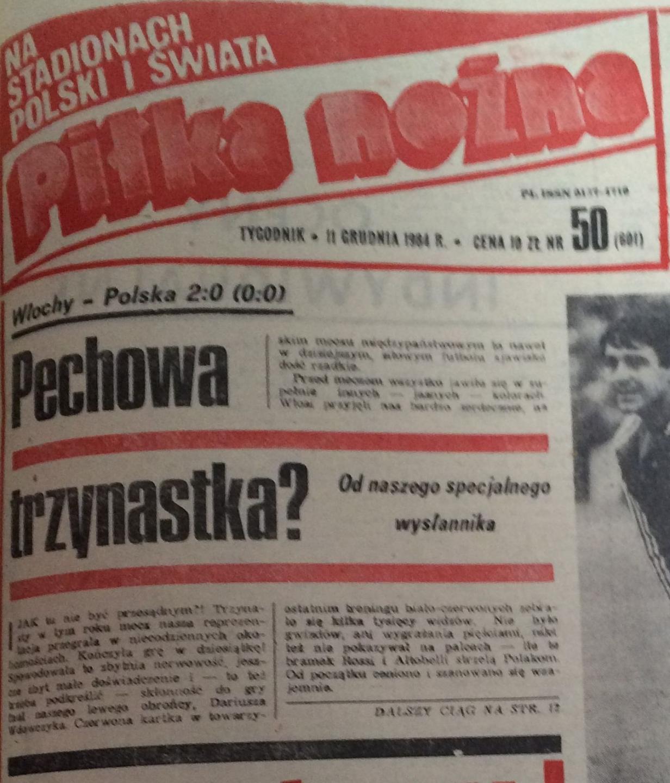 Piłka Nożna po Włochy - Polska 2:0 (08.12.1984) 1