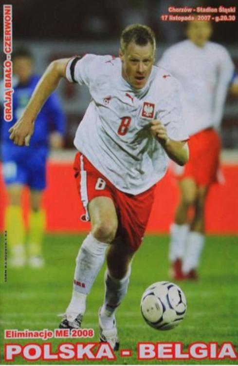 program meczowy polska - belgia (17.11.2007)