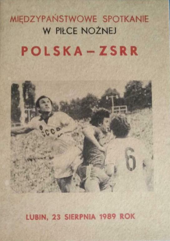 program meczowy polska - zsrr (23.08.1989)