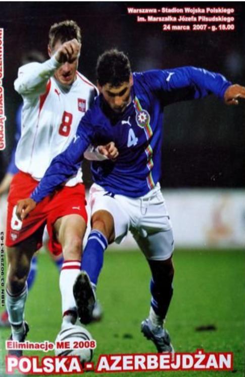 program z meczu polska - azerbejdżan (24.03.2007)