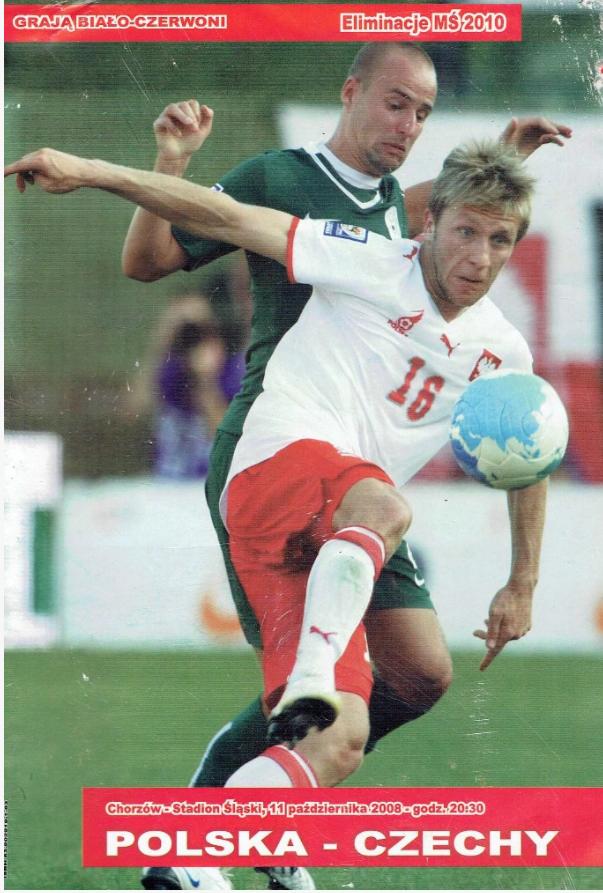 Program z meczu Polska - Czechy (11.10.2008)