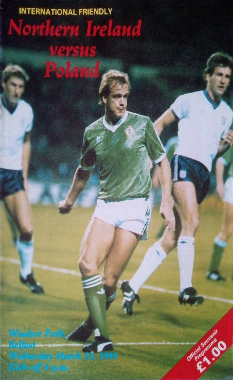 Program meczowy Irlandia Płn. - Polska 1:1 (23.03.1988).