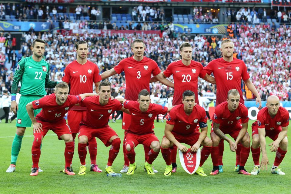 Reprezentacja Polski przed meczem z Niemcami.
