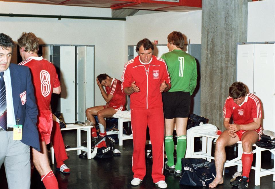 Szatnia Polaków w przerwie meczu z Peru.