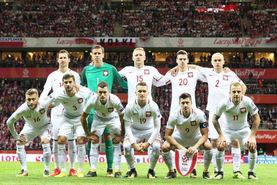 Reprezentacja Polski przed meczem z Czarnogórą.