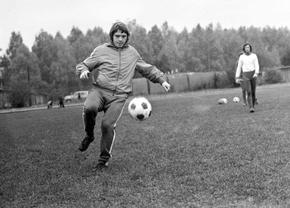 Henryk Wawrowski podczas treningu w Rembertowie.