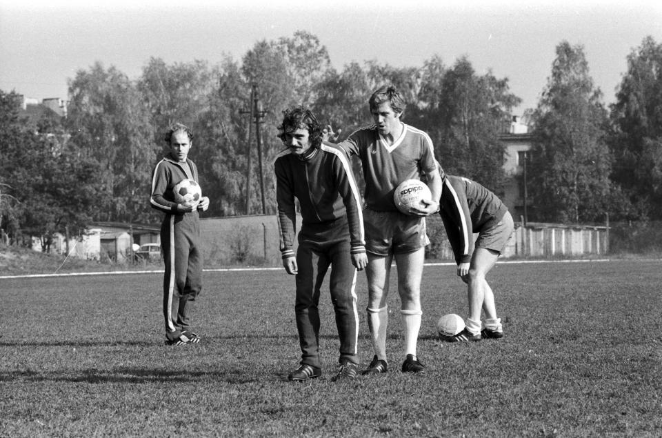 Jacek Gmoch podczas treningu.