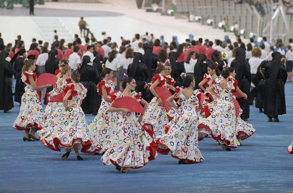 Ceremonia otwarcia igrzysk w Barcelonie.