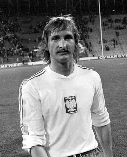 Polska - Włochy (23.06.1974) - Andrzej Szarmach