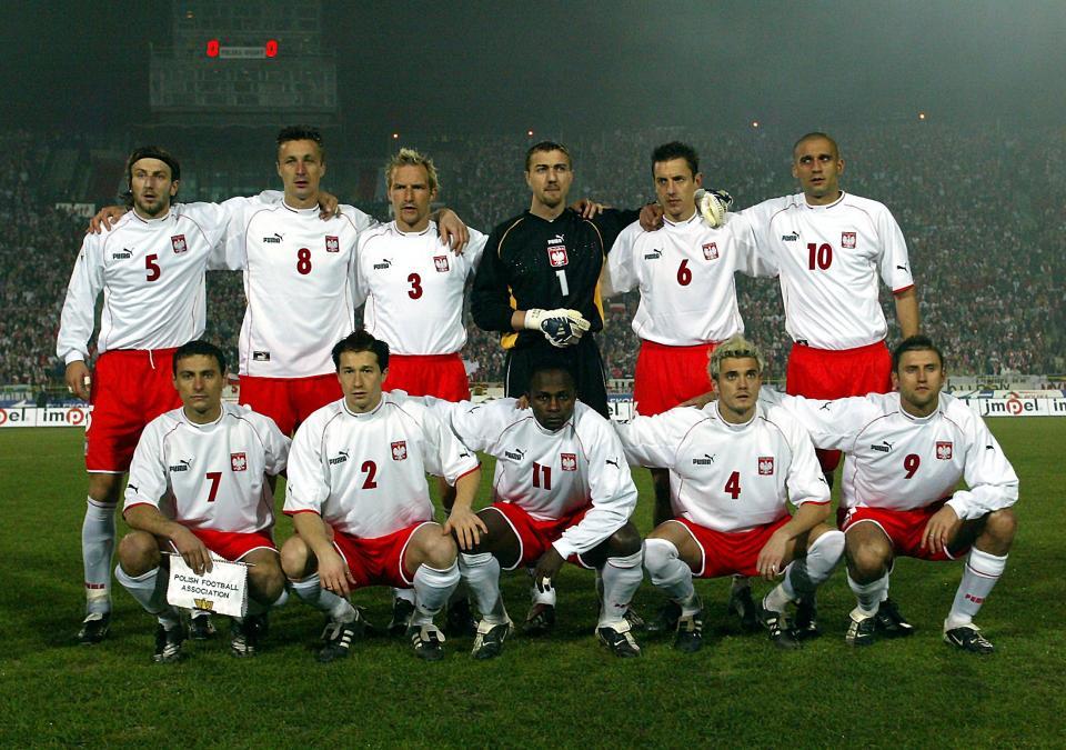 Reprezentacja Polski przed meczem z Węgrami w Chorzowie.