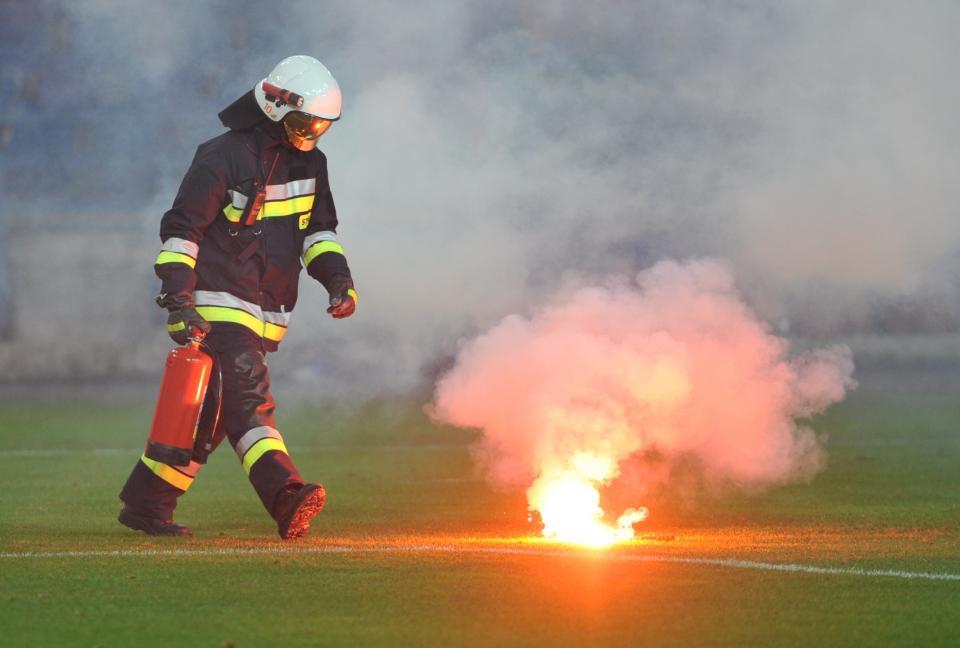 Strażak w akcji.