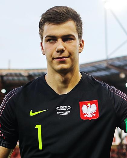 Radosław Majecki przed meczem.
