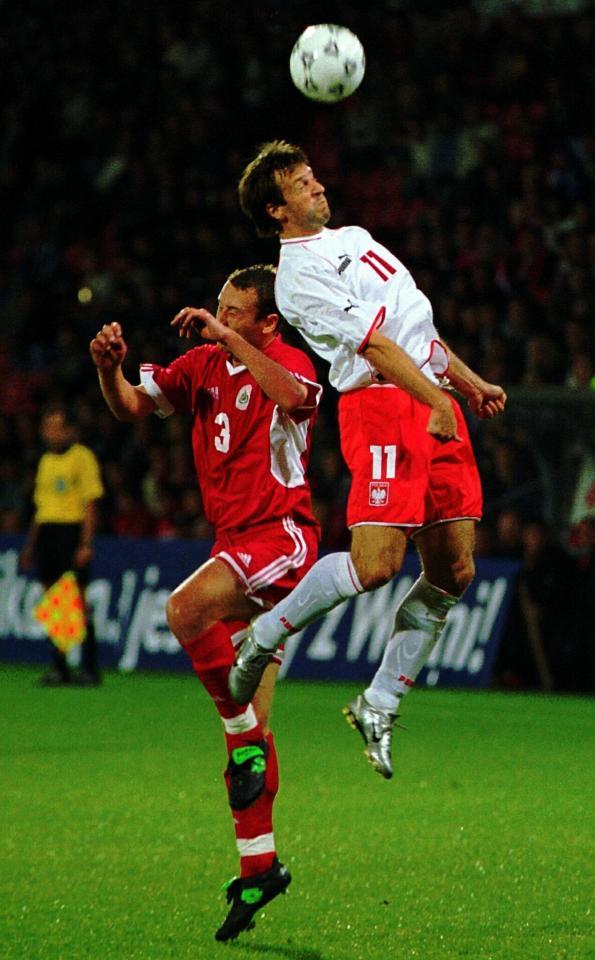 Mecz Łotwa - Polska w Rydze (2003).