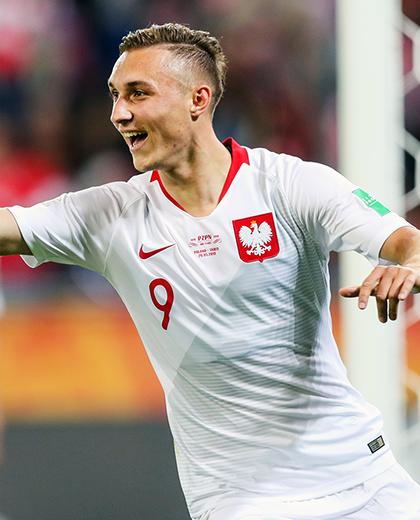Dominik Steczyk radość po golu.