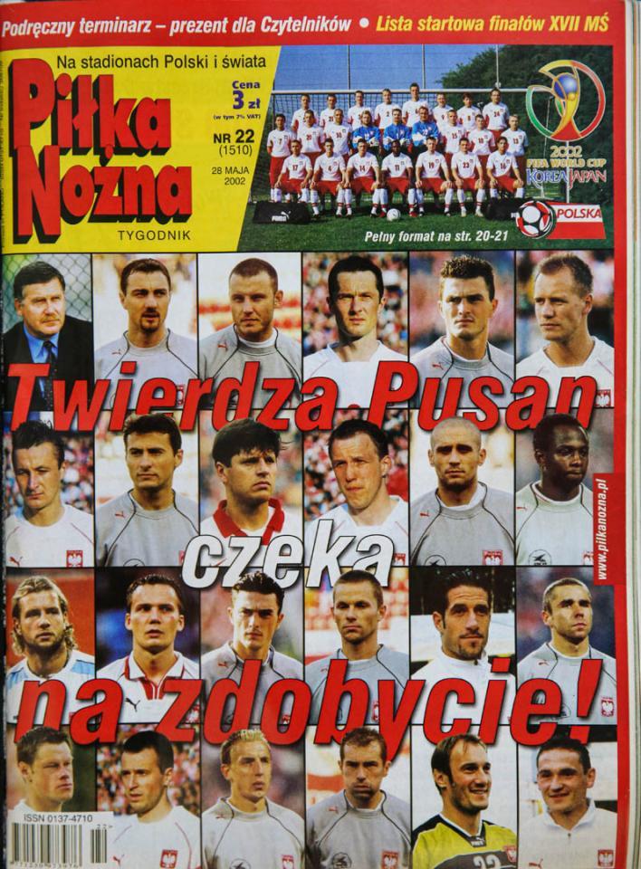 Okładka piłki nożnej przed meczem z Korei Płd. (04.06.2002)
